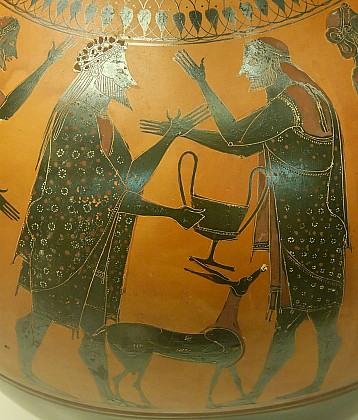 Дионис, Икарий и Майра