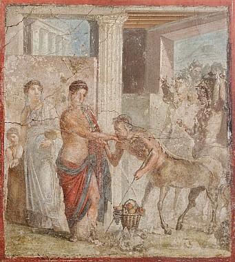 Пирифой и Гипподамия<br>принимают свадебные поздравления
