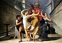 Тесей и Пирифой, похищающие Елену